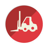 Forklift vehicle isolated icon Stock Photography