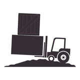 Forklift vehicle isolated icon Stock Images