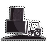 Forklift vehicle isolated icon Stock Image