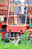 Forklift velho foto de stock royalty free