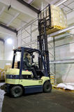 Forklift in warehouse Stock Photos