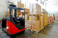 Forklift warehouse Stock Photos