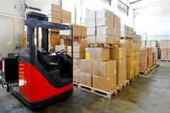 Forklift warehouse Stock Photos