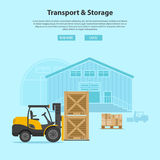 Forklift and Warehouse Stock Photography