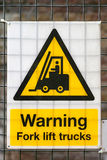 Forklift Warning Stock Photo