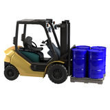 Forklift on white background Stock Photography