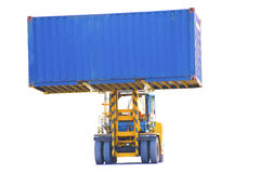 Forklift on white background. Royalty Free Stock Photo