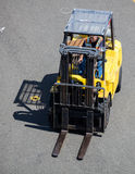 Forklift. A forklift working at a cruise ship terminal in Seattle, Washington Royalty Free Stock Photos