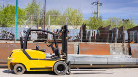 Forklift on workplace Royalty Free Stock Photos