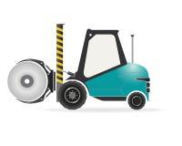 Forklift z papierowym rolka kahatem ilustracji