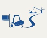 Forklift z pudełkiem ilustracji