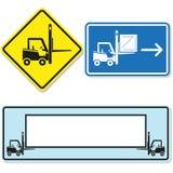 Forklift znak Obraz Stock