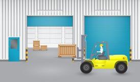 Forkliftfactory Stock Photo