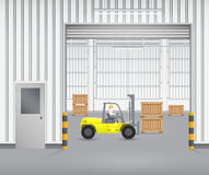 Forkliftfactory Royalty Free Stock Photo