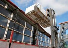 Forklifting goods Stock Photos