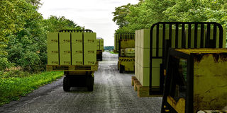 Forklifts Royalty Free Stock Photo