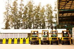 Forklifts in factory Royalty Free Stock Photo