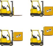 Forklifts. Heavy construction machines. Stock Photo