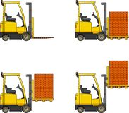 Forklifts. Heavy construction machines. Stock Image