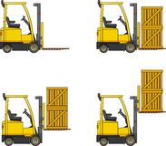 Forklifts. Heavy construction machines. Royalty Free Stock Photo