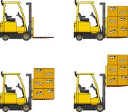 Forklifts. Heavy construction machines. Stock Images