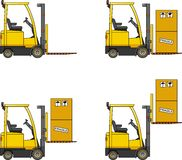 Forklifts. Heavy construction machines. Royalty Free Stock Photography
