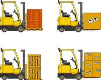 Forklifts. Heavy construction machines. Stock Photography