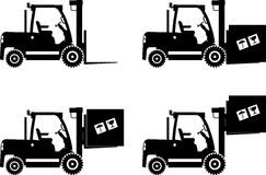 Forklifts. Heavy construction machines. Vector Royalty Free Stock Image