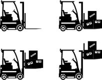 Forklifts. Heavy construction machines. Vector Royalty Free Stock Photo