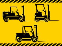 Forklifts. Heavy construction machines. Vector Stock Image