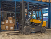 Forklifts. Illustration of Appropriate to the content Stock Photo