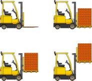 forklifts Macchine della costruzione pesante Immagine Stock