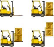 forklifts Macchine della costruzione pesante Fotografia Stock Libera da Diritti
