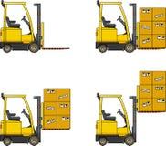 forklifts Macchine della costruzione pesante Immagini Stock