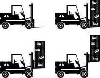 forklifts Macchine della costruzione pesante Vettore Immagine Stock Libera da Diritti