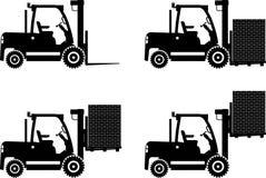 forklifts Macchine della costruzione pesante Vettore Fotografia Stock Libera da Diritti