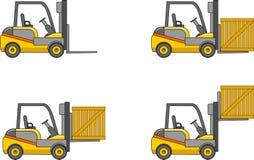 forklifts Maschinen des schweren Baus Auch im corel abgehobenen Betrag Lizenzfreies Stockfoto
