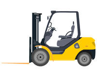 Forklifts na białym tle Obraz Royalty Free