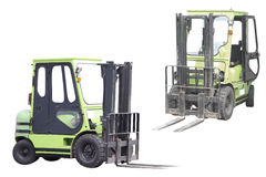 Forklifts truck. Under the white background Royalty Free Stock Photo
