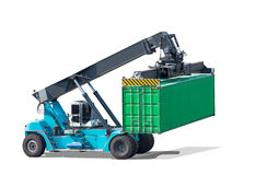 Forklifts truck container isolated on white background. With clipping path Stock Photos
