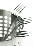 Forks. Three forks in metal container Stock Photography