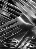Forks abstract. Closeup view of forks Royalty Free Stock Images