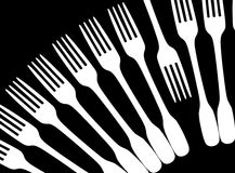 Forks art. In black and white Stock Photography