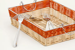 Forks and basket Royalty Free Stock Photos