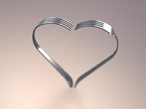 Forks heart Stock Photo