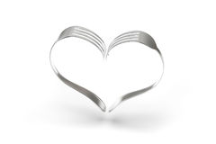 Forks Heart on white background Stock Image
