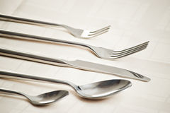 Forks knife spoons Stock Photography