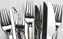 Forks and knifes Stock Photography