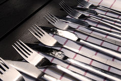 Forks And Knifes Royalty Free Stock Photography