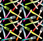 Forks and Knifes Seamless Background Royalty Free Stock Photo